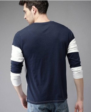 Men-Navy-Blue-Colours-blocked-Round-Neck-T-Shirt-RO-2156-20-(1)