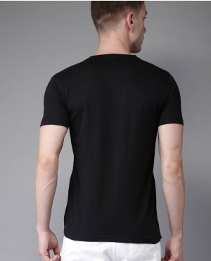 Men-New-Coming-Black-Solid-V-Neck-T-Shirt-RO-2157-20-(1)