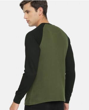 Men-Olive-Green-&-Black-Round-Neck-Sweatshirt-RO-2107-20-(1)