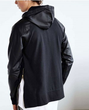 Men-Raglan-PU-Leather-Sleeves-Pullover-Stylish-Hoodie-RO-651-20-(1)