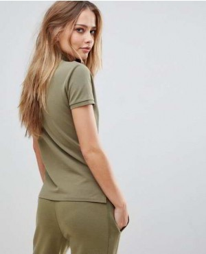 Most-Popular-Army-Green-Color-Polo-Shirt-With-Bottons-RO-2609-20-(1)