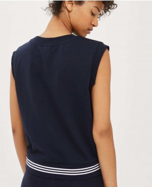 Navy-Blue-3-Stripe-Hem-Tank-Top-RO-2749-20-(1)