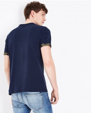 Navy-Printed-Pocket-Popular-Style-T-Shirt-RO-2164-20-(1)