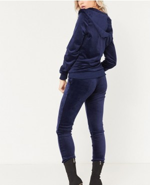 Navy-Velour-Velvet-Zipper-Hooded-Tracksuit-RO-3291-20-(1)