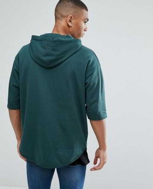 Oversized Longline Short Sleeve Hoodie RO 2029 20 (1)