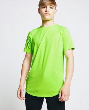 Pakistani-Wholesale-High-Quality-Curved-Hem-Longline-Blank-T-Shirt-Kids-RO-3459-20-(1)
