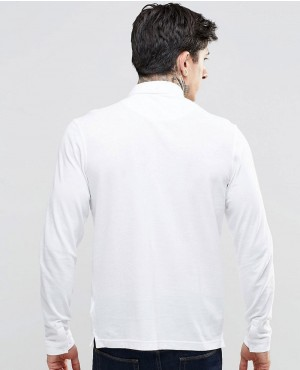 Polo-Shirt-With-Long-Sleeves-In-Slim-Fit-White-RO-102557-(1)