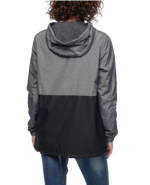Quin-Grey-Texture-&-Black-PU-Lined-Windbreaker-Jacket-RO-102899-(1)