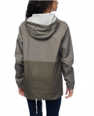 Quin-Olive-&-Grey-Lined-Pullover-Windbreaker-Jacket-RO-102900-(1)