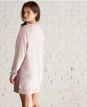 Raglan-Long-Dress-V-Neck-Velour-Sweatshirt-Dress-RO-3032-20-(1)