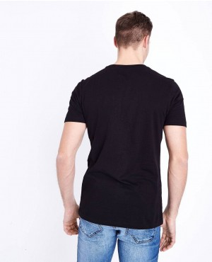 Street-Wear-Black-Short-Sleeves-Muscles-Gym-Fit-T-Shirt-RO-2175-20-(1)