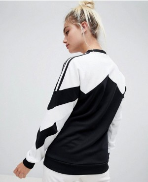 Sweatshirt-With-Contrast-Panel-In-White-And-Black-RO-3048-20-(1)