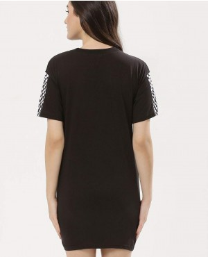 T-Shirt-Dress-With-Check-Sleeves-RO-2532-20-(1)