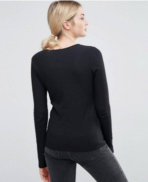 TALL-Fitted-V-Neck-Long-Sleeve-T-Shirt-In-Slub-RO-102187-(1)