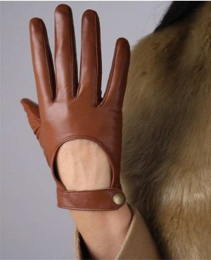 Touch-Screen-Genuine-Leather-Gloves-Pure-Sheepskin-Black-Short-Silk-Lining-RO-2431-20-(1)