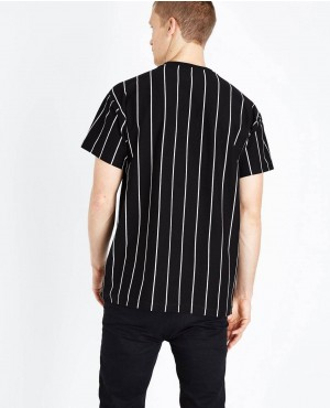 Trendy-Black-Vertical-Stripes-Print-T-Shirt-RO-2176-20-(1)