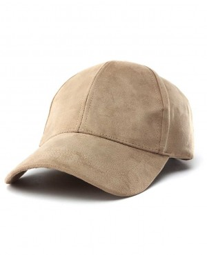 Unisex-Faux-Suede-Leather-Fitted-Baseball-Adjustable-Plain-Sports-Cap-RO-2340-20-(1)