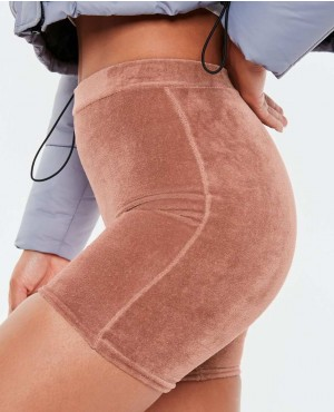 Wholesale-And-Trendy-Cycling-Shorts--Rose-Pink-Velour-Finish-RO-3247-20-(1)