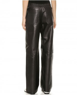 Women-Black-Baggy-Style-Leather-Pant-RO-102781-(1)