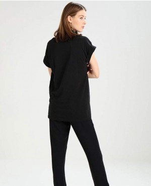 Women-Black-Off-Sleeve-T-Shirt-RO-2550-20-(1)