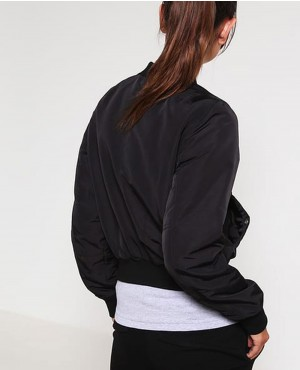 Women-Black-Zipper-Bomber-Jacket-RO-103019-(1)
