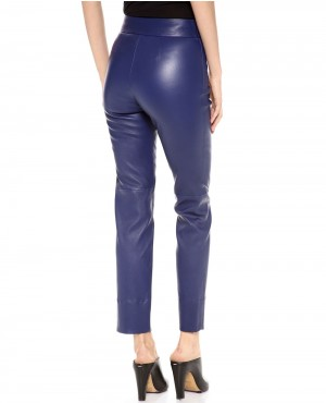 Women-Blue-Leather-Pant-with-Front-Pockets-RO-102783-(1)
