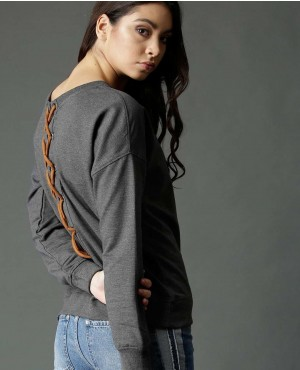 Women-Charcoal-Solid-Back-Laces-Sweatshirt-RO-3055-20-(1)