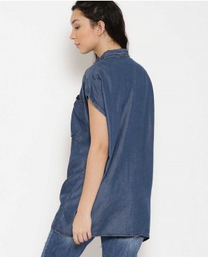 Women-Custom-Blue-Solid-Longline-Denim-Shirt-RO-3344-20-(1)