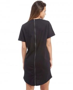 Women-Full-Back-Zipper-Longline-Black--T-Shirt-RO-2584-20-(1)