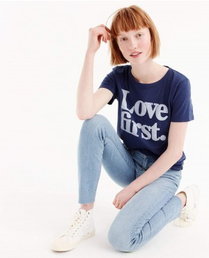 Women-Navy-Blue-Love-first-T-Shirt-RO-2559-20-(1)