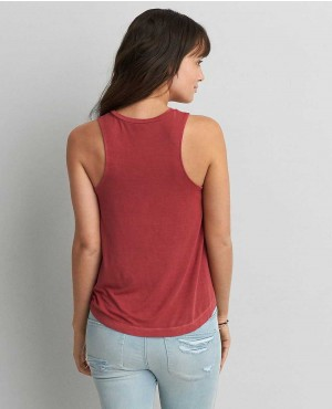 Women-Round-Hem-Burgundy-Tank-Top-RO-102246-(1)