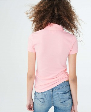 Women-Trendy-Polo-Shirt-In-Pink-Color-With-Own-Your-Customization-RO-2641-20-(1)